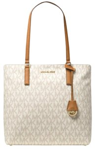 Michael Kors Morgan Faux Leather Tote in Vanilla