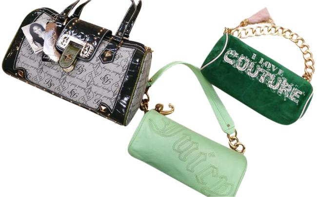 Item - Three Item Bundle 1-babyphat/2-juicycouture Green Leather Baguette