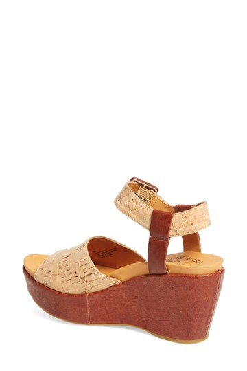 Kork-Ease Suede Wedge Sandals Purple ETIOPE-BROWN-LEATHER Platforms