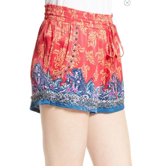 Free People Mini/Short Shorts Red, Blue