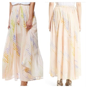 Free people Maxi Skirt Cream, Gold
