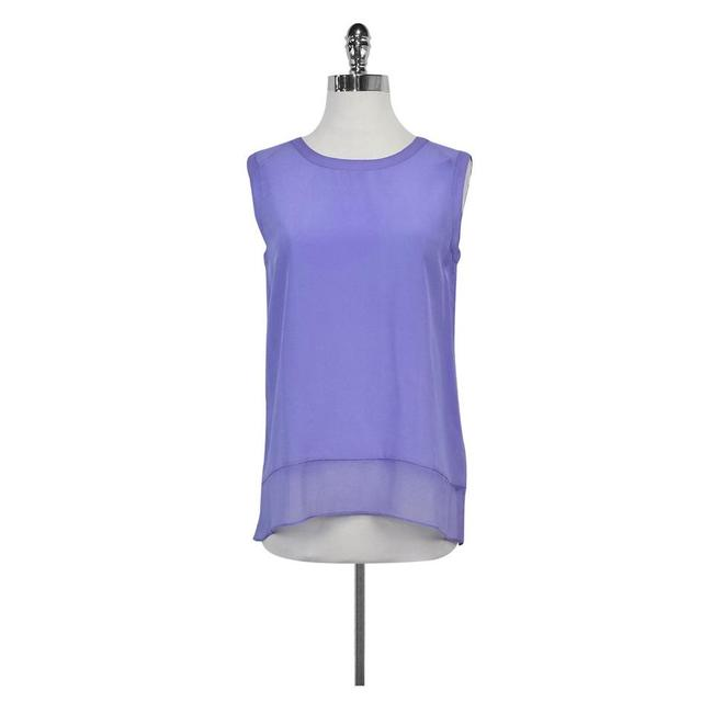 Magaschoni Silk Top Lavender