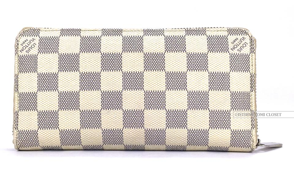 3072b00c1 Louis Vuitton Damier Paris Made In France Azur Zippy Wallet - Tradesy