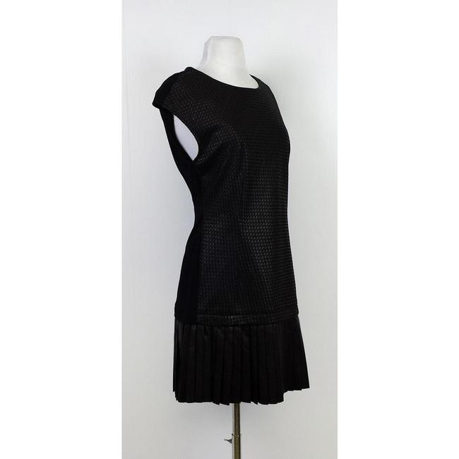Catherine Malandrino short dress Black Leather Drop Waist on Tradesy