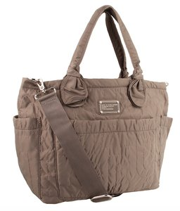 Marc by Marc Jacobs Quilted Chic Trendy Spring Neutral tan Diaper Bag
