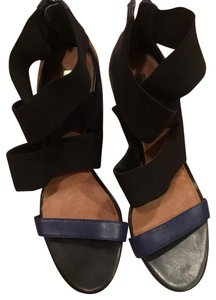 Halogen black navy Sandals