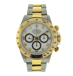 Rolex Rolex Cosmograph Daytona S Serial 16523 Steel Gold Diamond Marker 40mm