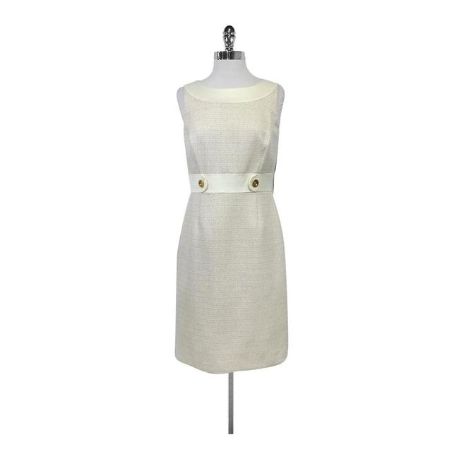Tahari short dress Cream Champagne Joyce Fitted on Tradesy