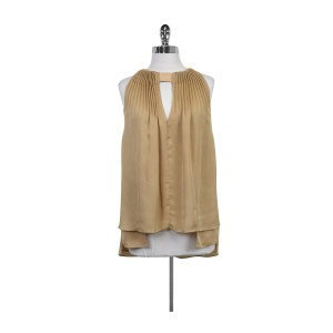 Diane von Furstenberg Isaye Nude Pleated Top