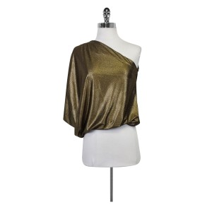 Alice + Olivia One Metallic Shimmer Top