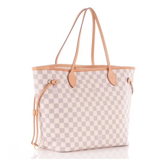 Louis Vuitton Neverfull Tote in Damier Azur Image 2