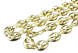 Other 9.5 MM Wide Puffed Mariner Anchor Link Chain Necklace 24 Ins