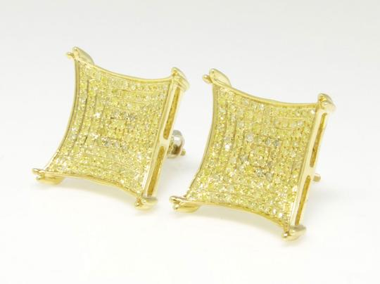 Other Mens Ladies Kite Prong 15 MM Diamond Pave Stud Earrings .75 Ct