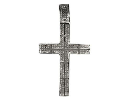 Other Mens Puff Pave Genuine Diamond Cross Charm Pendant 2.5