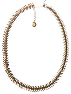 BCBGeneration fishbone spike necklace faux antique gold