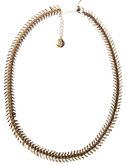 Preload https://img-static.tradesy.com/item/21371410/bcbgeneration-antique-gold-fishbone-spike-faux-necklace-0-1-540-540.jpg