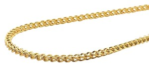 Other 10K Yellow Gold 2MM Hollow Franco Box Link Chain Necklace 20 Inches