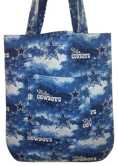 Preload https://img-static.tradesy.com/item/21371421/dallas-cowboys-and-stars-inspired-handmade-blue-cotton-tote-0-1-540-540.jpg