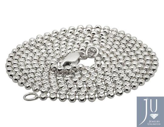 Other 10K White Gold Moon Cut Style Link Chain Necklace 1.5MM 18