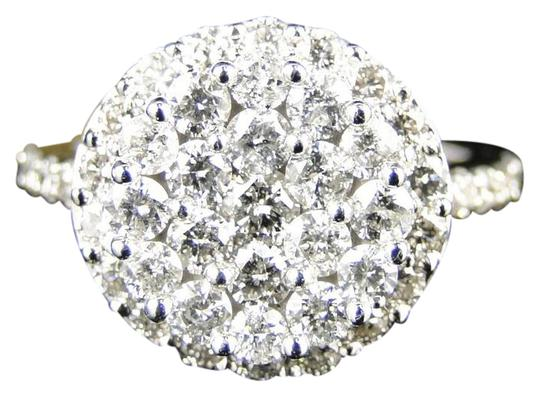 Preload https://img-static.tradesy.com/item/21371446/14k-white-gold-ladies-cluster-round-cut-diamond-bridal-engagement-185-ct-ring-0-1-540-540.jpg