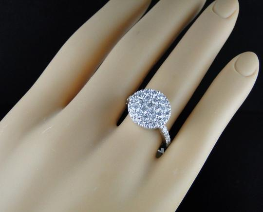 Other LADIES CLUSTER ROUND CUT DIAMOND BRIDAL ENGAGEMENT RING 1.85 CT