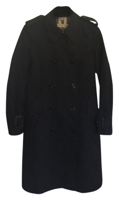 Preload https://item1.tradesy.com/images/burberry-black-manston-trench-coat-size-4-s-2137145-0-0.jpg?width=400&height=650