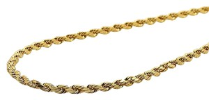 Other 10K Yellow Gold 2 MM Hollow Rope Chain Necklace 18 Inches
