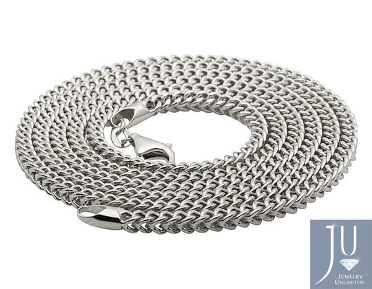 Other 10K White Gold 3MM Hollow Franco Box Link Chain Necklace 18 Inches