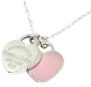 Tiffany & Co. Tiffany & Co. Pink Porcelain and Return To Tiffany Heart Necklace