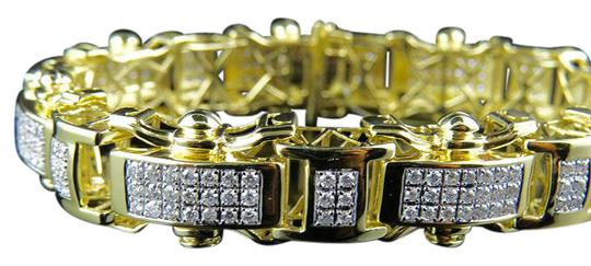 Preload https://img-static.tradesy.com/item/21371463/10k-yellow-gold-mens-17mm-railroad-style-real-diamond-637-ct-85-inch-bracelet-0-1-540-540.jpg
