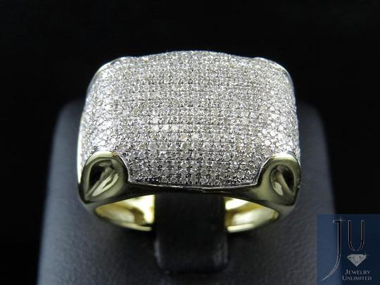 Other Mens Pave Genuine Diamond Dome Puff Pinky Ring 1.5ct