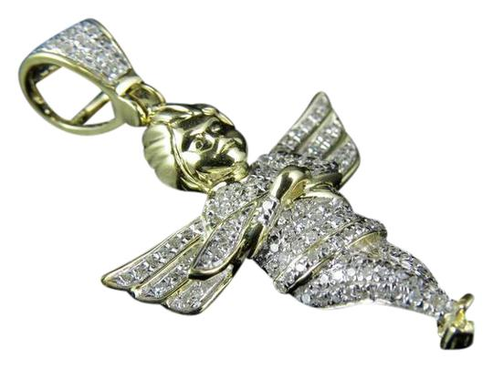Preload https://img-static.tradesy.com/item/21371485/10k-yellow-gold-unisex-mini-diamond-angel-cherub-pendant-50-ct-charm-0-1-540-540.jpg