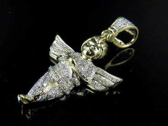 Other Unisex Mini Diamond Angel Cherub Pendant Charm .50 Ct
