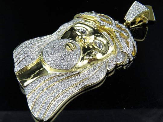 Other Jesus Face Piece High End 3.5 Inch Diamond Pendant 14.0ct
