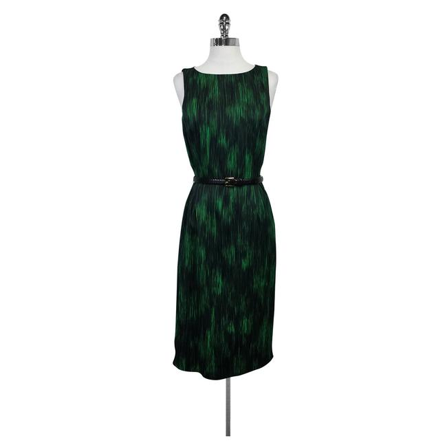 Preload https://img-static.tradesy.com/item/21371541/michael-kors-green-and-black-print-belted-mid-length-formal-dress-size-4-s-0-0-650-650.jpg