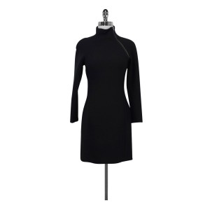 Theory short dress Black With Side Neck Zip on Tradesy