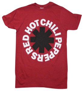 Red Hot Chili Peppers The Treasured Hippie Music Boho Band Memorabilia T Shirt Red