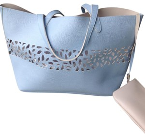 Blue Tote Tote in blue /ivory