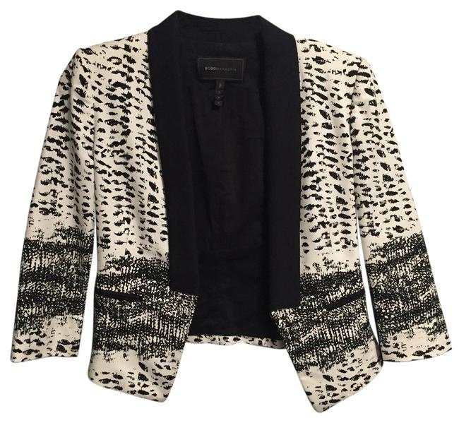 Item - Black and White Tailored Jacket Size 4 (S)
