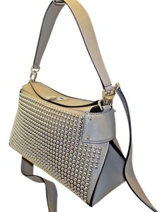 Michael Kors Collection Shoulder Crossbody Studded Satchel in taupe