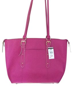 Wilson Leather Tote in pink