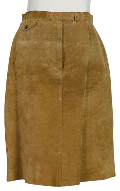 Preload https://img-static.tradesy.com/item/21371888/lauren-ralph-lauren-tan-suede-knee-length-skirt-size-2-xs-26-0-1-650-650.jpg