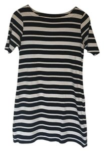 Old Navy short dress Black and White Striped Knit Cotton Summer on Tradesy