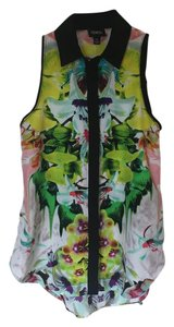 Prabal Gurung for Target Print Floral Top Multi