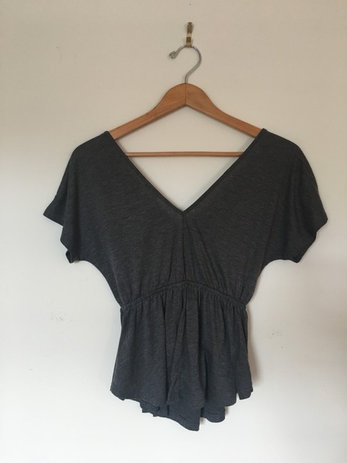 Urban Outfitters V-neck T Shirt gray