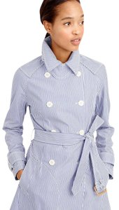 J.Crew Trench Stripe New With Tags Trench Coat