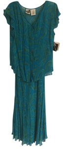 Deep turquoise with celadon green swirl print Maxi Dress by 3.1 Phillip Lim Phool