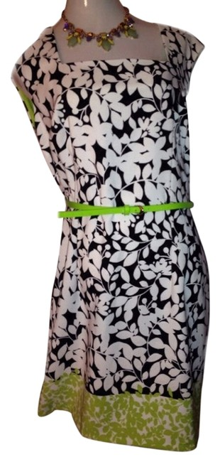 London Times short dress Black White And Green on Tradesy