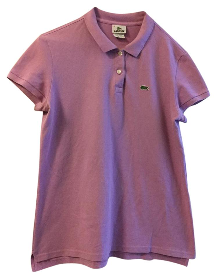 produit chaud grande remise vif et grand en style Lacoste Purple Short-sleeve Polo Shirt Blouse Size 16 (XL, Plus 0x)