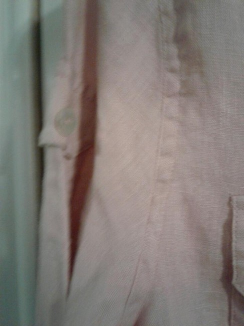 None Button Down Shirt pink